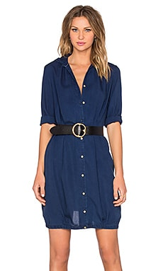 Maison Scotch Button Up Dress in Indigo