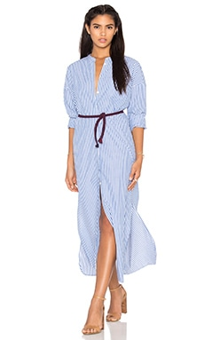 Maison Scotch Maxi Shirt Dress in Chambray