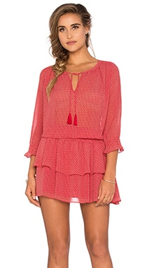 Maison Scotch Boho Gypsy Dress in Red