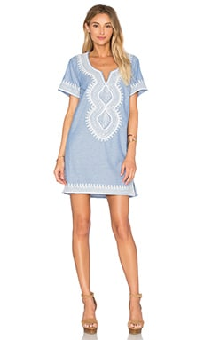Maison Scotch Midi Summer Caftan in Chambray