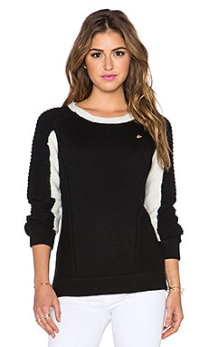 Maison Scotch Color Block Sweater in Black