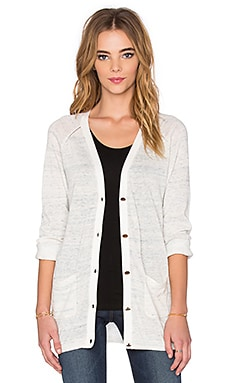 Maison Scotch Long Button Down Cardigan in Grey
