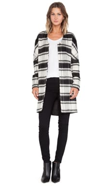 Maison Scotch Throw On Jacket in Black & White