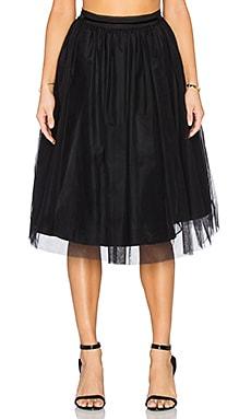 Maison Scotch Tulle Midi Skirt in Black