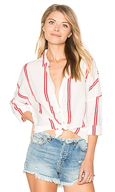 Loose Fitted Shirt in Rot & Weiß