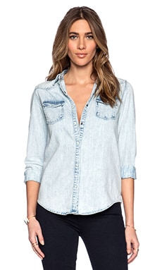 Maison Scotch Classic Western Shirt in Chambray