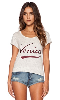 Maison Scotch City Print Tee in Cream