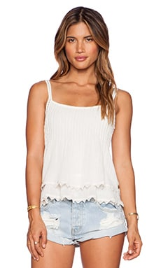 Maison Scotch Tiered Tank Top in Ivory