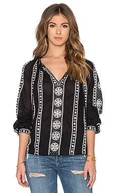 Maison Scotch Embellished Blouse in Black
