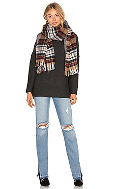 Double Sided Pattern Scarf in Plaid