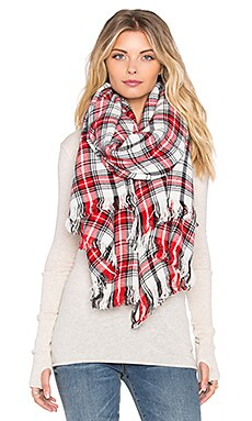 Maison Scotch Checkered Scarf in Plaid
