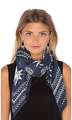 Maison Scotch Oversized Bandana in Navy