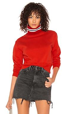 Фото - Свитшот college stripes - MSGM красного цвета