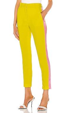 Брюки с высоким поясом tailored - MSGM, Желтый, Строгий стиль