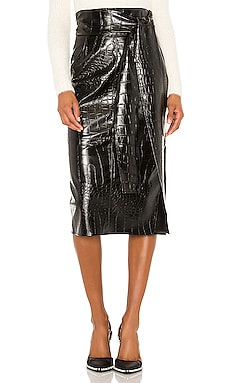 Faux Leather Skirt MSGM $507