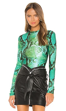 Digital Python Printed Blouse MSGM $240