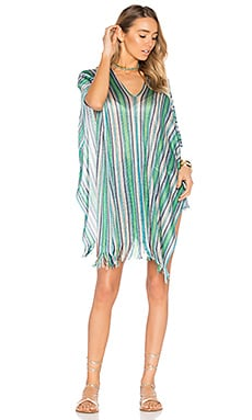 Short Poncho in Multi Turquoise