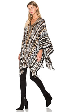 Zig Zag Poncho in Brown