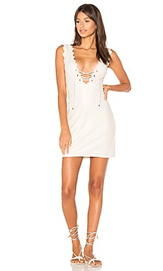 Amagansett Tie Dress in Metallic Cream