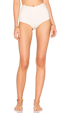 Palm Springs High Waist Bikini Bottom in Coconut