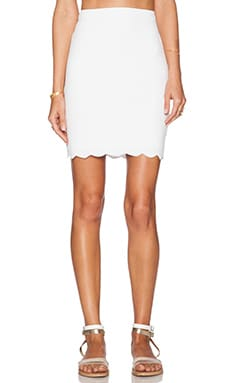 Marysia Swim Montauk Scallop Skirt in White