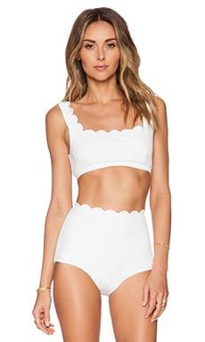 Marysia Swim Palm Springs Sporty Bikini Top in White
