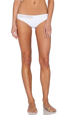 Marysia Swim Mesh Bikini Bottom in White