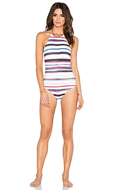 Marysia Swim Mott Maillot One Piece in Sally Light Stripe & Off White