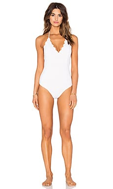 Marysia Swim Broadway Swimsuit in Off White & Sunlight Yellow