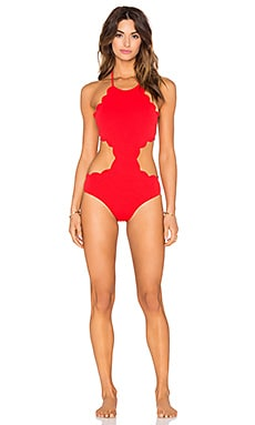 Marysia Swim Mott Cutout Swimsuit in Poppy Red