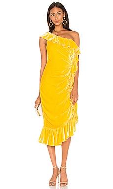 Фото - Платье миди flamenco - Mestiza New York желтого цвета