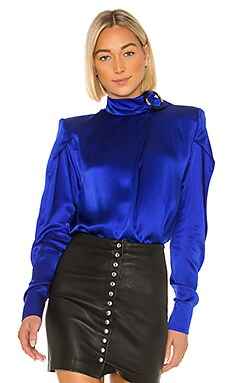 Silk Buckled Blouse MATERIEL $540
