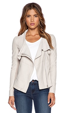Muubaa Louis Drape Jacket in Rose Powder