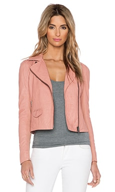 Muubaa Gulrro Biker Jacket in Rose