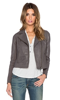 Muubaa Bovaye Drape Jacket in Bentonite Grey