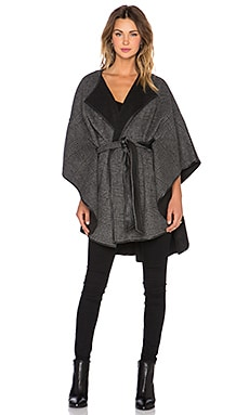 Muubaa Bunter Reversible Cape in Check & Black
