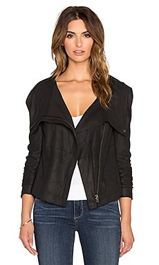Muubaa Bovaye Drape Jacket in Black