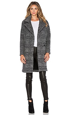 Muubaa Bonner Wool Coat in Black & White
