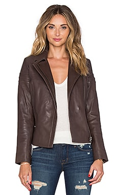 Muubaa Lance Biker Jacket in Concrete