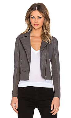 Muubaa Everdeen Biker Jacket in Bentonite Grey