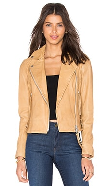 Muubaa Holmedale Biker Jacket in Tan