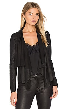Kirbie Drape Front Jacket in Black