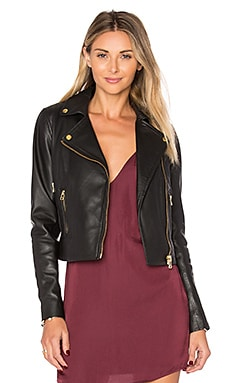 Harrier Biker Jacket in Black