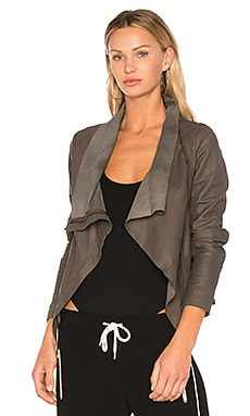 Zipper Drape Front Jacket