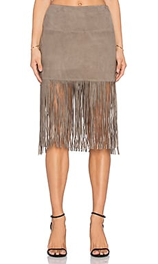 Muubaa Milo Fringed Skirt in Brindle