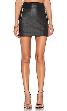 Muubaa Reynolds Mini Skirt in Black