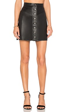 Muubaa Holland Mini Skirt in Black