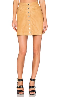 Muubaa Holland Mini Skirt in Tan