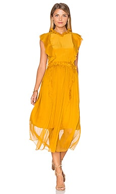 Florence Silk Dress in Marigold