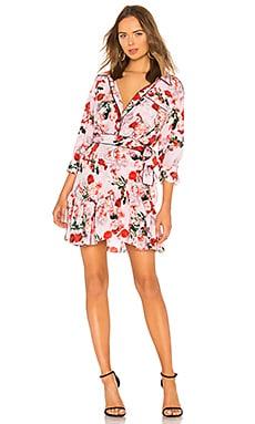 Scarlet Silk Print Mini Dress Marissa Webb $282
